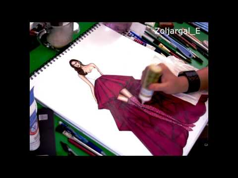 fashion sketch - speed painting