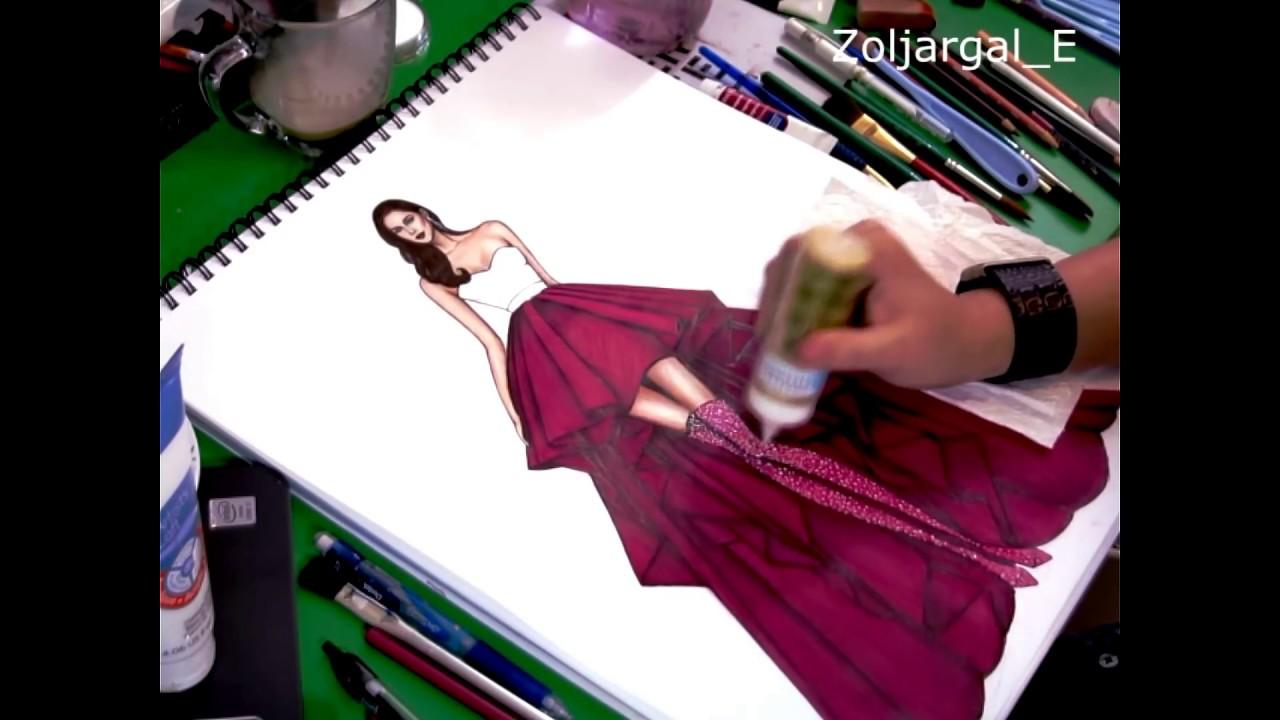 Fashion sketches new fashion sketches - Fashion Sketch Speed Painting