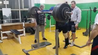 Родэ Денис присед 292.5 кг, б/э