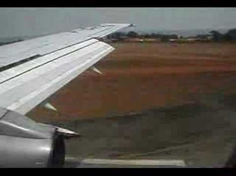 Flying into Conakry, Guinea