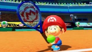 Mario Sports Superstars: Tennis Exhibition - Baby Mario VS Baby Luigi!