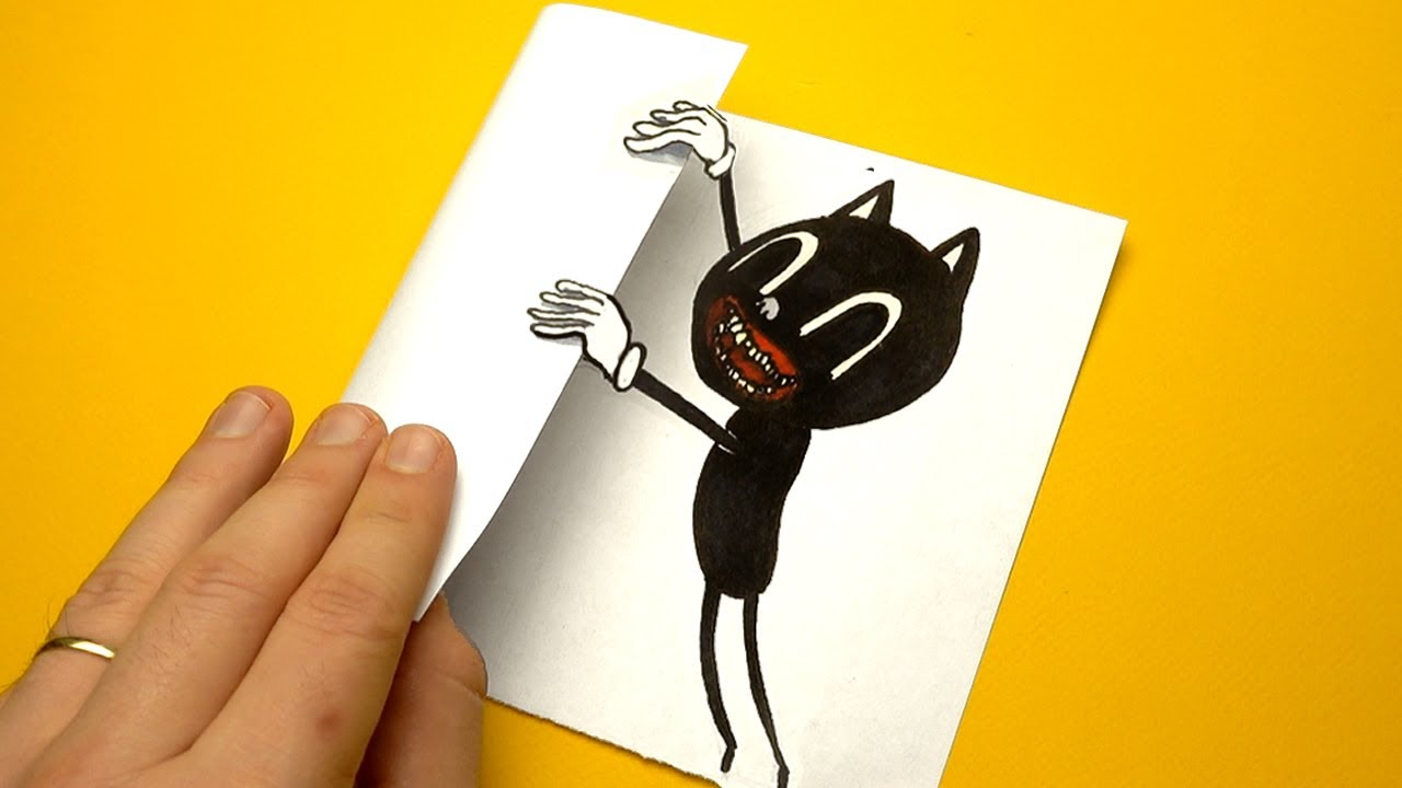6 Cool Trevor Henderson's Creation (Cartoon Cat, C.Dog etc) Paper Crafts and Doodles for BIG FANS