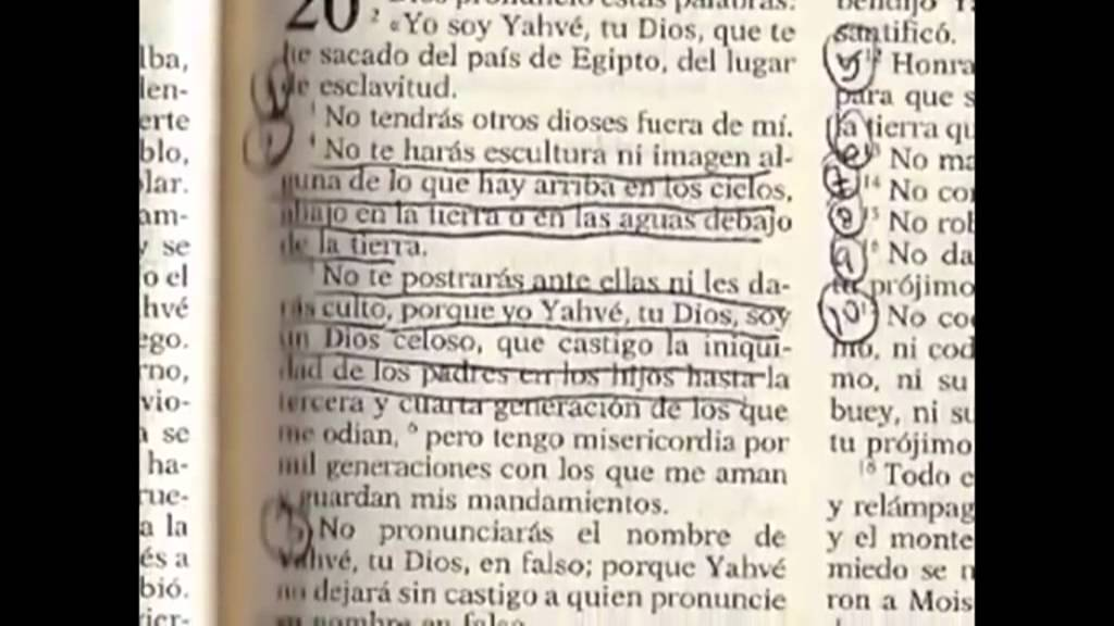 La biblia cat lica y los 10 mandamientos youtube - Los 10 locos mandamientos ...
