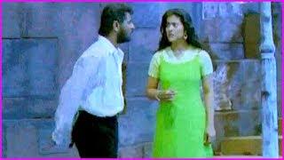 Prabhu Deva And Kajol Scene Near Station | Merupu Kalalu Movie Scene