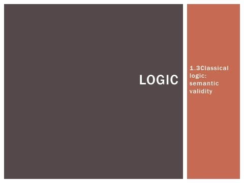 1.3 Semantic validity