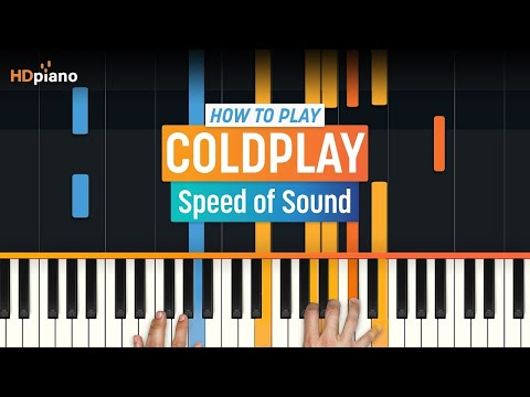 How To Play Speed of Sound  Coldplay  HDpiano Part 1 Piano Tutorial