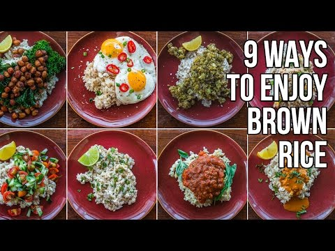 9 Ways to Make Brown Rice Less Bland / 9 Nueva Recetas para Arroz Integral