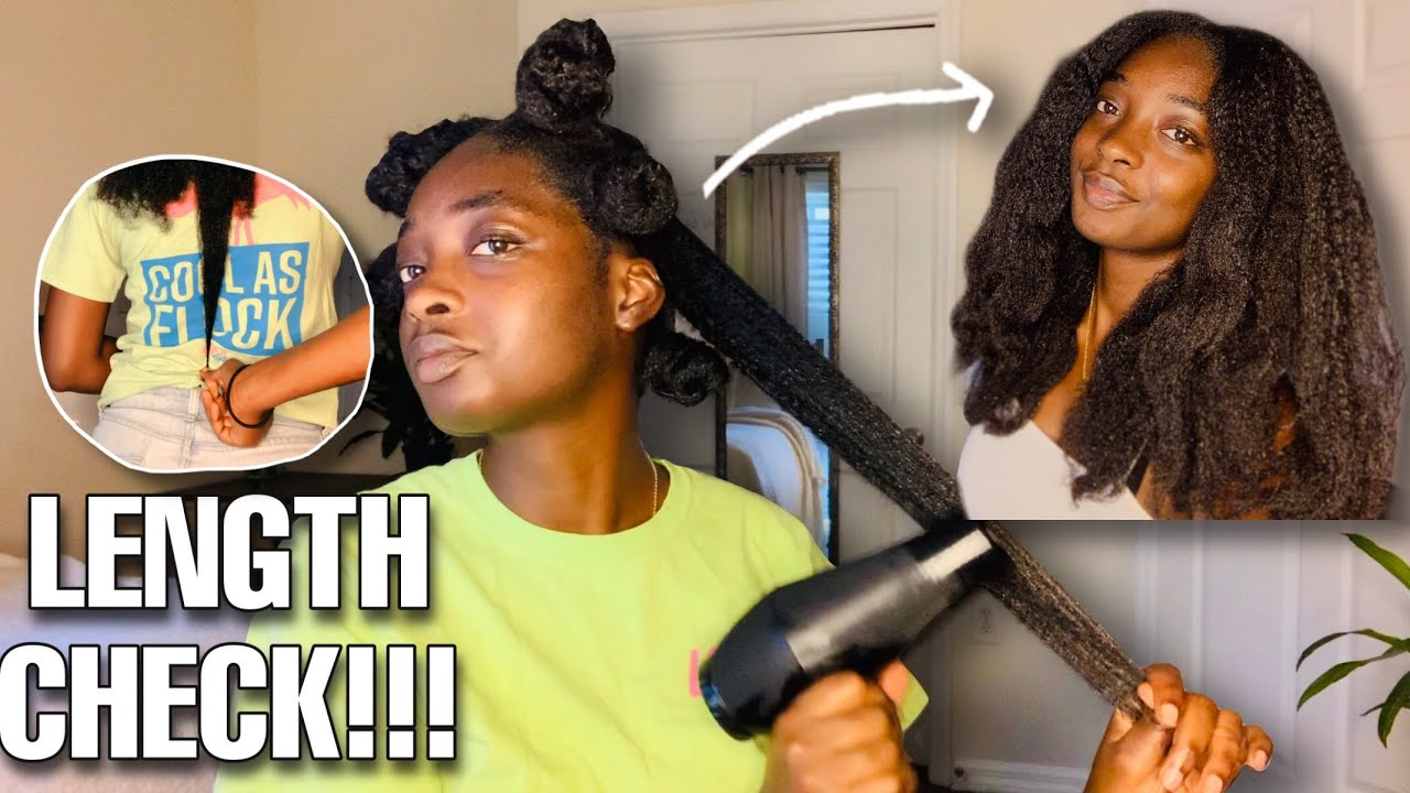 BLOWOUT ON NATURAL HAIR |  HAIR GROWTH EXPERIMENT !!