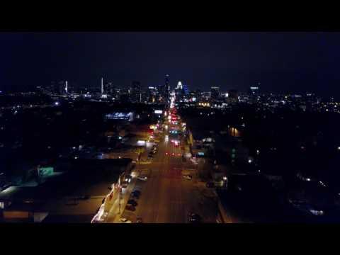 Austin TX - Congress Street at night