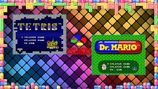 Tetris & Dr. Mario gameplay (SNES/Super Nintendo)