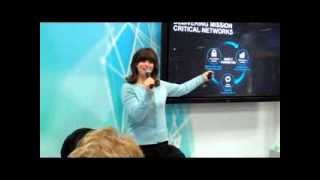 Juniper Networks Presentation at INTEROP 2013 (Emilie Barta, Trade Show Presenter / Spokesperson)