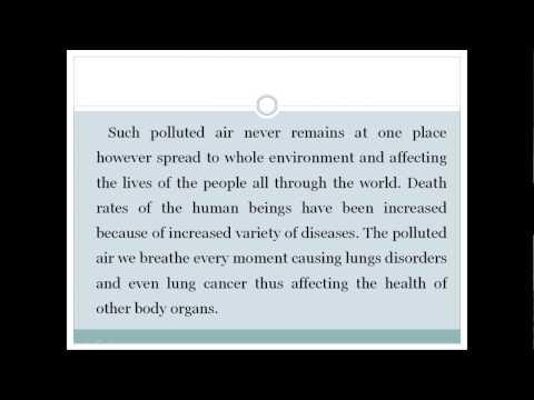 ESSAY   ON  AIR POLLUTION