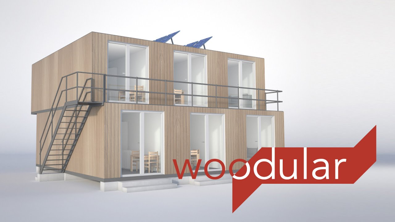 Woodular wohn module aus holz youtube for Holz wohncontainer