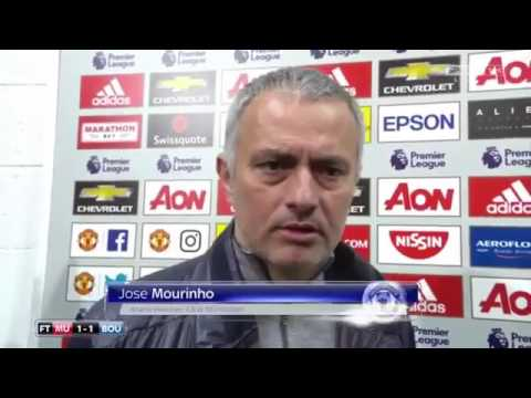 Jose Mourinho interview after the game about the Ibrahimovic and Mings incident