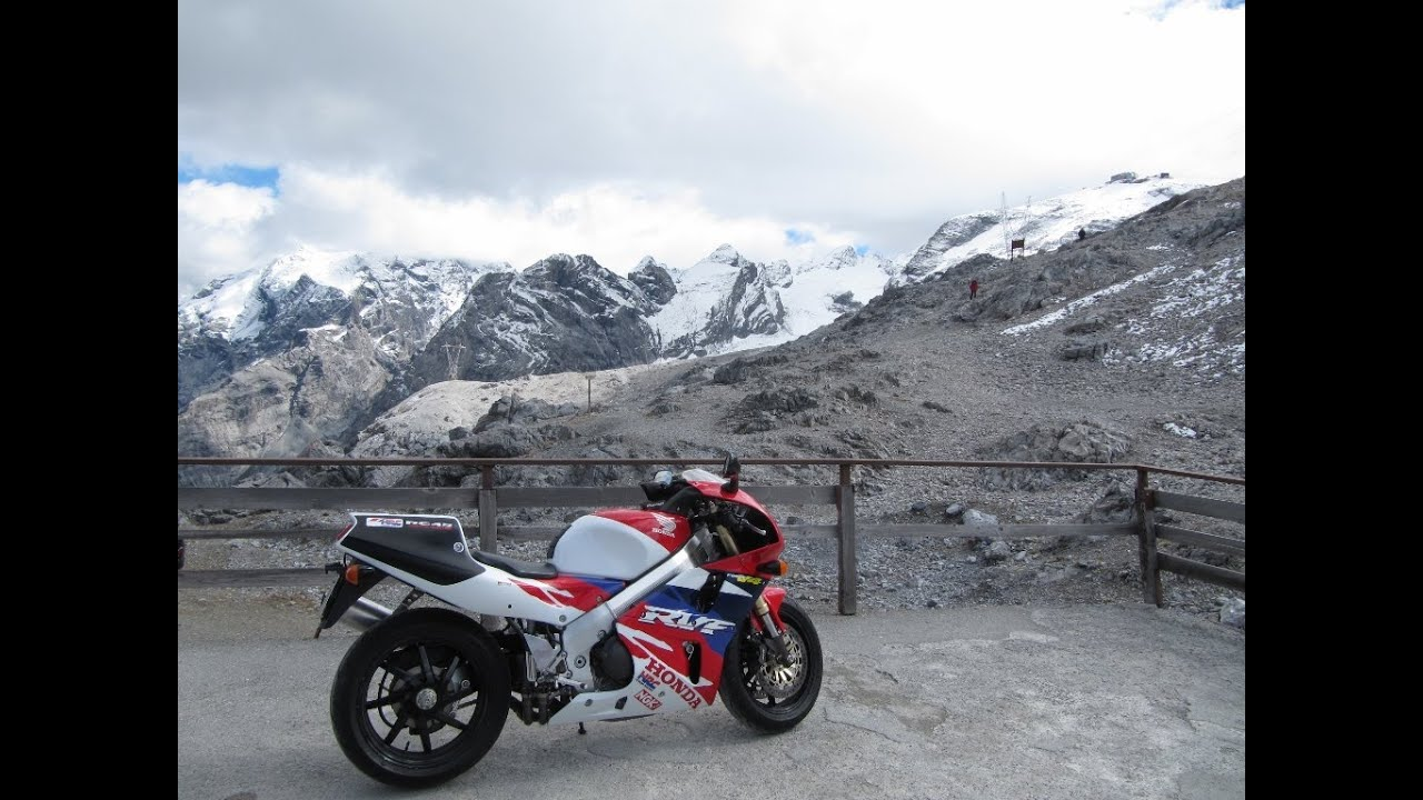 Superbike honda rc45 hrc a drive in the stelvio pass year 2013 italy youtube