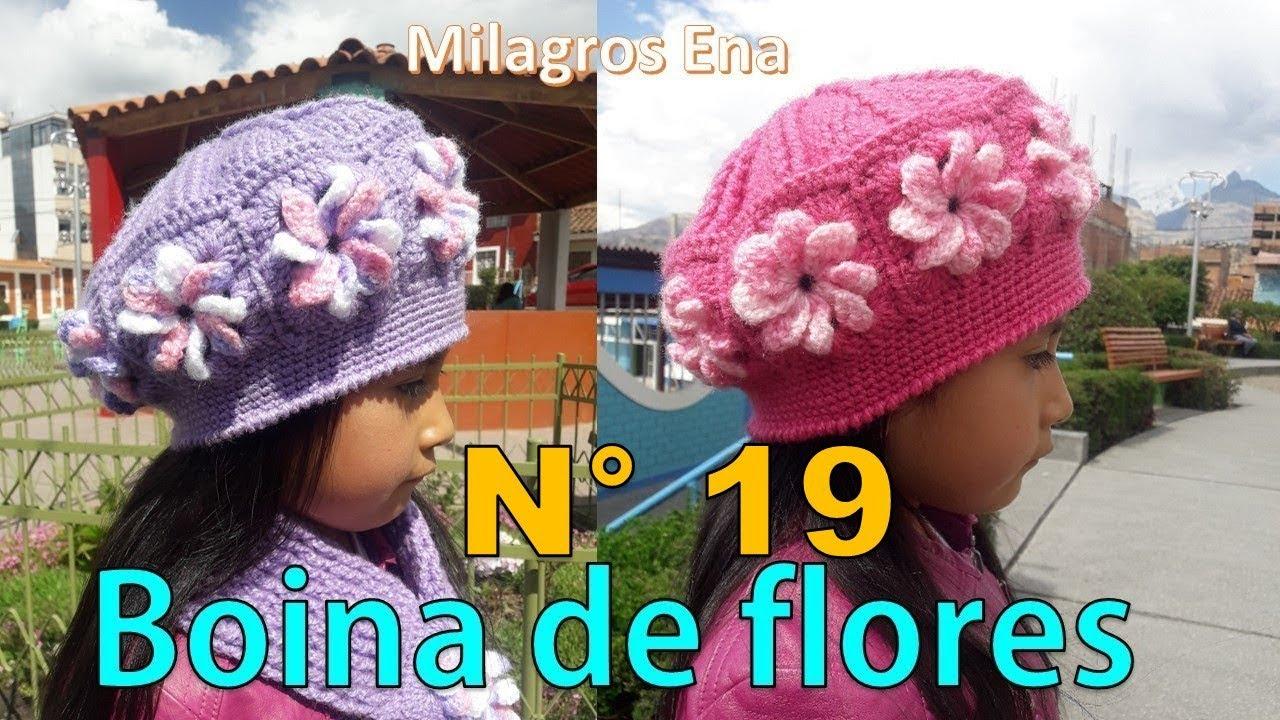 alondra Documento pájaro  Boina tejida a crochet con cuadrados de Flores paso a paso - MILAGROS ENA -  YouTube
