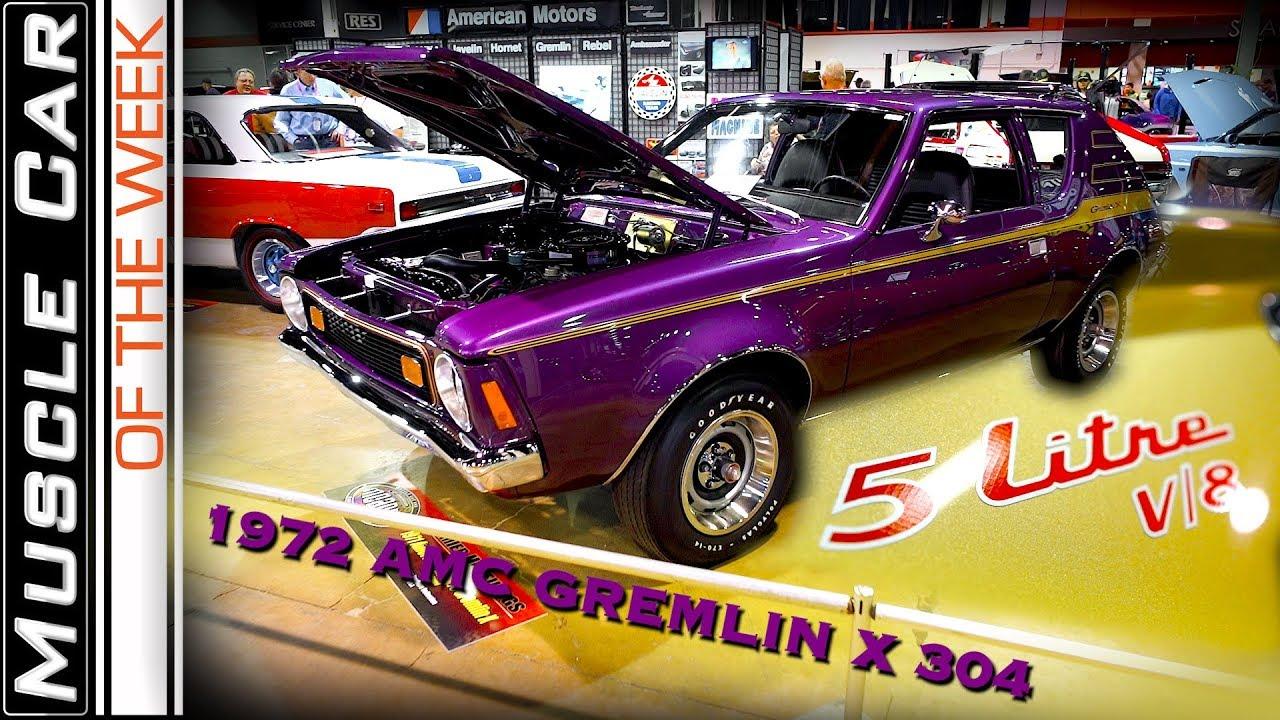 1972 AMC GREMLIN X 304 Muscle Car Of The Week Episode #285 V8TV