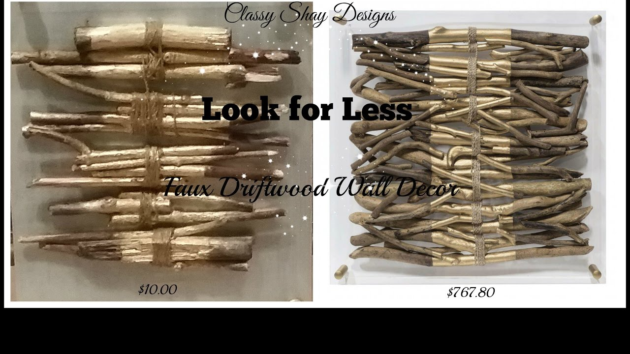 Diy High End Dupe Faux Driftwood Wall Decor Stripe