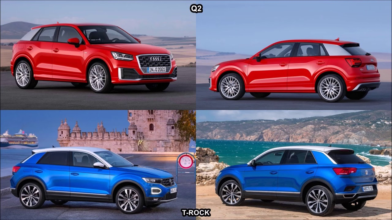 2018 audi q2 vs 2018 volkswagen t rock youtube. Black Bedroom Furniture Sets. Home Design Ideas