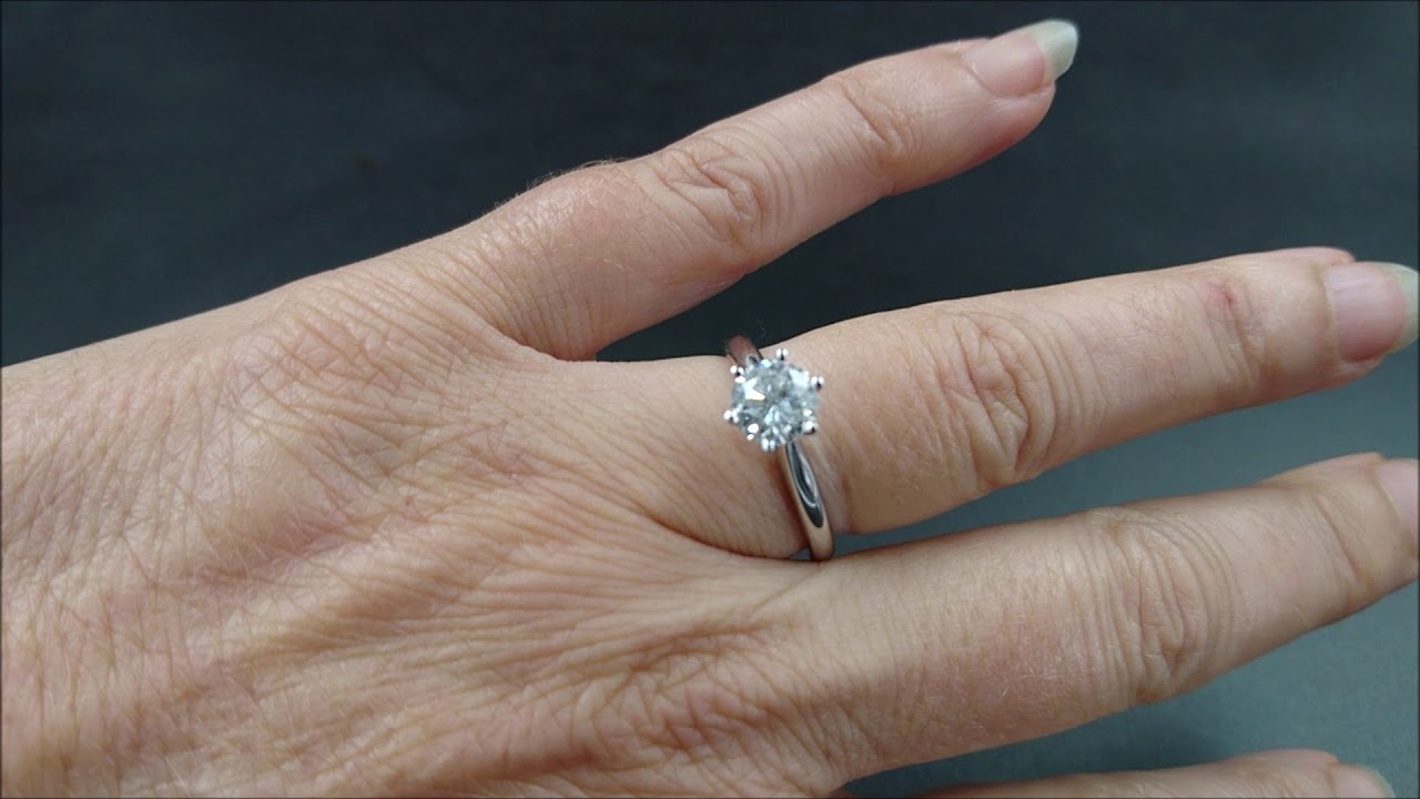 18ct White Gold 1ct Diamond Solitaire Engagement Ring By Michael Hill Jewellers Youtube