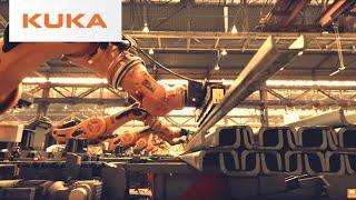 Heavy Duty KUKA Titan Robot Stacking Steel Beams
