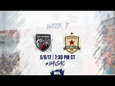 USL LIVE - San Antonio FC vs Sacramento Republic FC 5/6/17