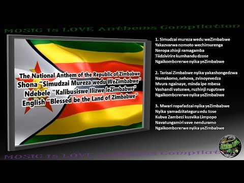 Zimbabwe National Anthem INSTRUMENTAL with lyrics Shona-Ndebele-English