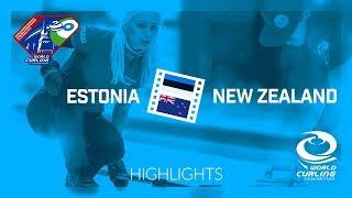 HIGHLIGHTS: Estonia v New Zealand - World Mixed Doubles Curling Championship 2018