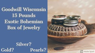 Goodwill WI 15 Pound Box of Exotic Bohemian Jewelry Silver? Gold? Junk? Unjarring Unboxing Unpacking