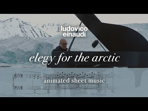 Ludovico Einaudi: 'Elegy For The Arctic' — OFFICIAL Free Animated Sheet Music