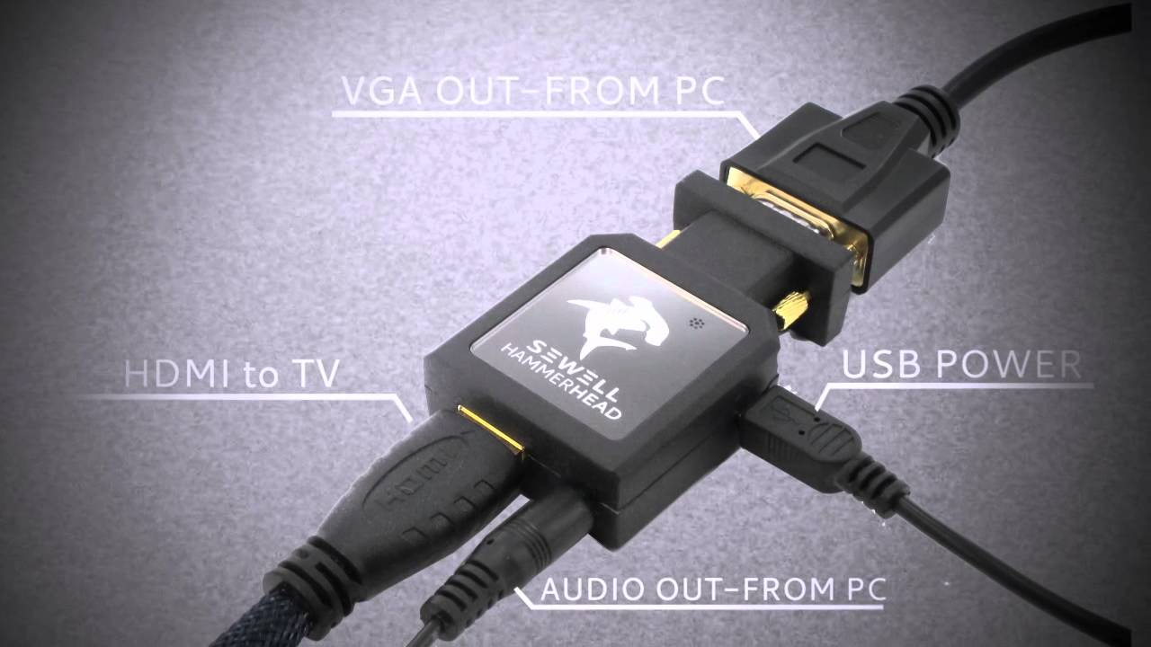 Pc to tv 1080p hammerhead vga to hdmi youtube publicscrutiny Images