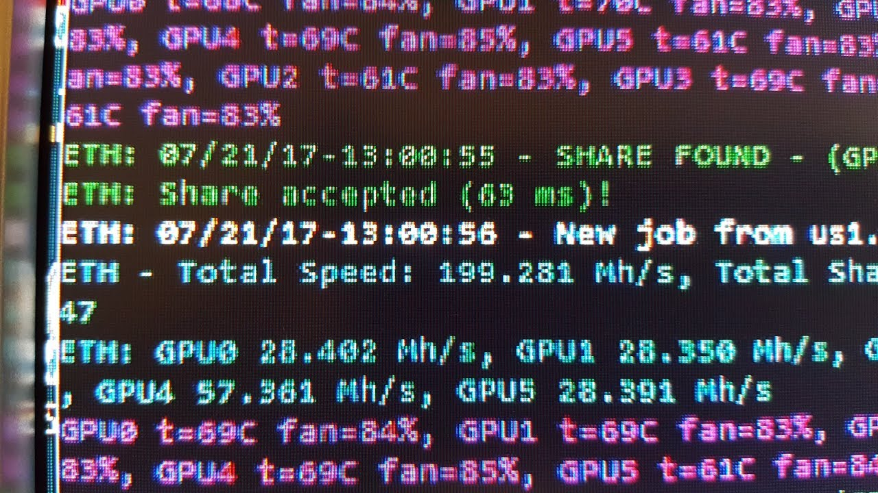 1 RX 470 Mining ETH at 57 Mh/s??