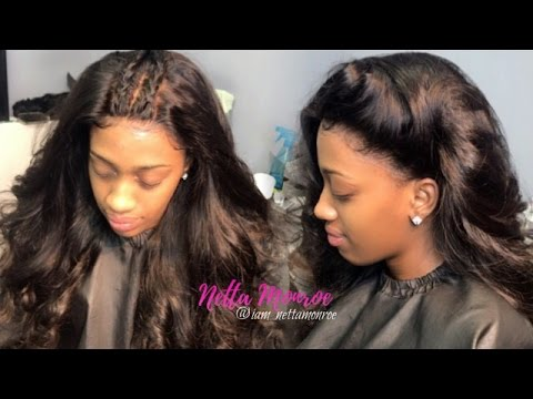 HOW TO  LACE FRONTAL SEW IN! NO GLUE NO TAPE  b7040087f82b