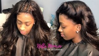 HOW TO: LACE FRONTAL SEW IN! NO GLUE NO TAPE | IAM_NETTAMONROE