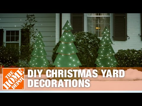 DIY Christmas Yard Decorations: Wooden Christmas Tree | The Home Depot