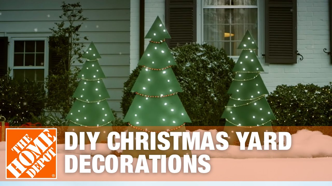 diy christmas yard decorations wooden christmas tree - Outside Christmas Tree Decorations