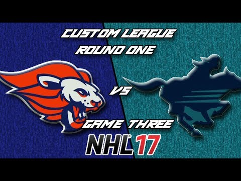 NHL 17 - Custom League - Balitmore @ Calgary Round 1 Game 3
