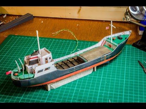 Jennings Quay - N Gauge Model Railway - Scalescenes Cargo Ship Build
