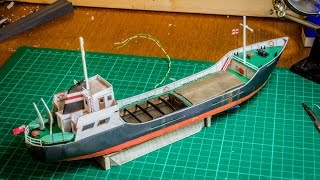 Jennings Quay - N Gauge Model Railway - Scalescenes Cargo Ship Build