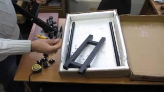 Стол для ноутбука трансформер черный прикроватный на колесиках