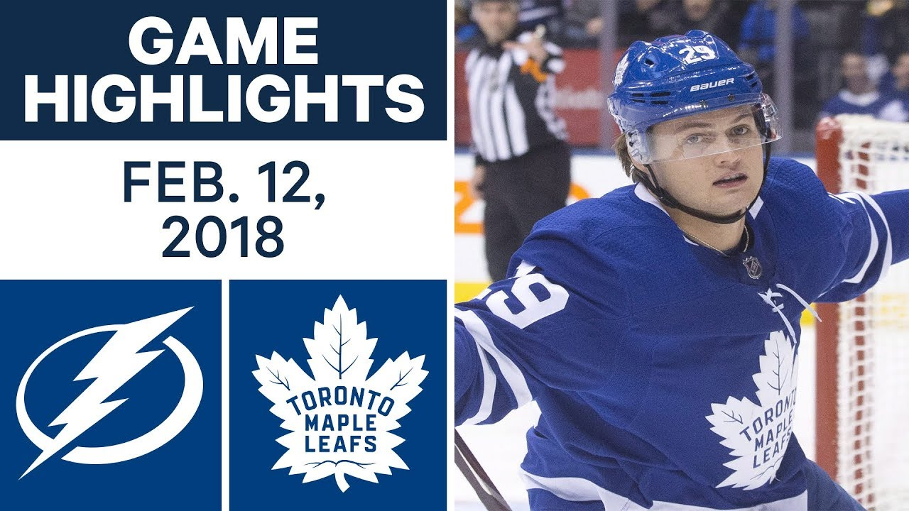 NHL Game Highlights | Lightning vs. Maple Leafs - Feb. 12, 2018