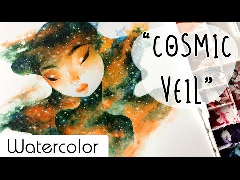 """Cosmic Veil"" // Watercolor Timelapse // Bao Pham"