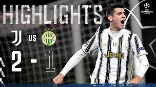 Juventus 2-1 Ferencváros | Dramatic Last Minute Morata Goal Seals Win! | Champions League Highlights