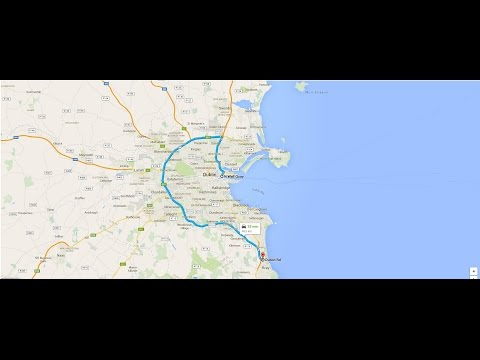 Driving around Dublin Ireland. M50 FULL VIDEO. From North Wall Quay to Bray. May 2015.