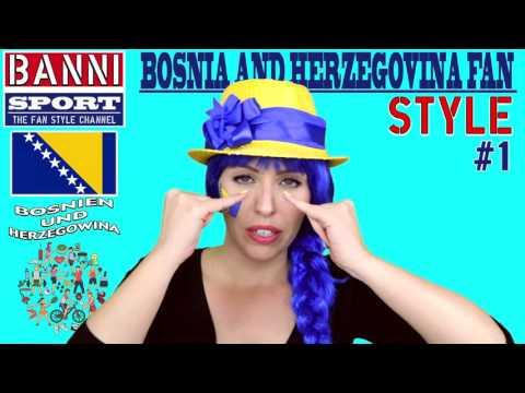 Bosnien Herzegowina Bosna i Hercegovina Bosnia Herzegovina - Sport Fan Style & National Make-up #1