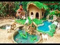 - Rescue Abandoned Puppies Building Mud House Dog And Fish Pond For Red Fish