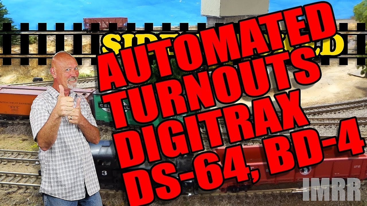 s004 how to easily automate turnouts (wiring digitrax ds64, bd4, tortoise) Digitrax DCC Train Wiring