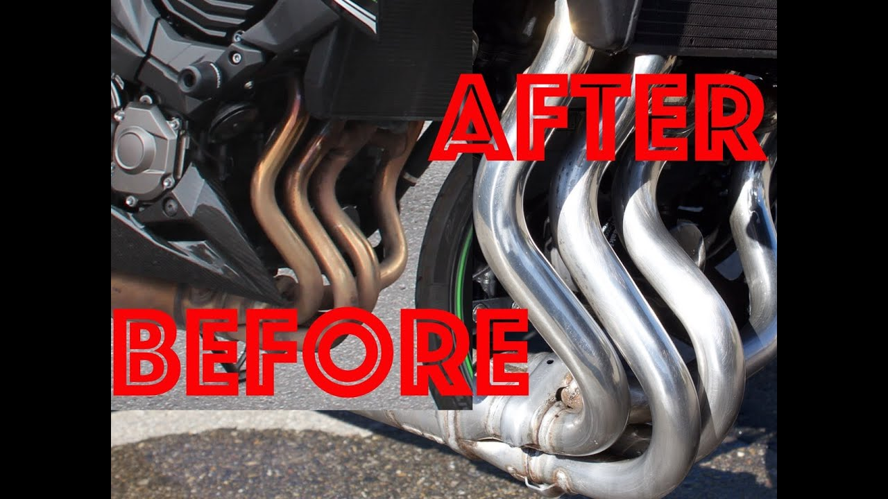 How to clean motorcycle exhaust pipes │SWISSBIKER - YouTube