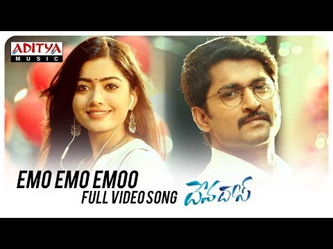 Emo Emo Emoo Full Video Song | Devadas Songs | Akkineni Nagarjuna,Nani,Rashmika,Aakanksha Singh