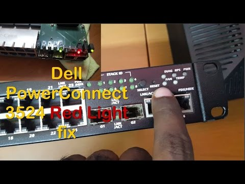 Fix Red Led on Dell Poweconnect 3524 Switch